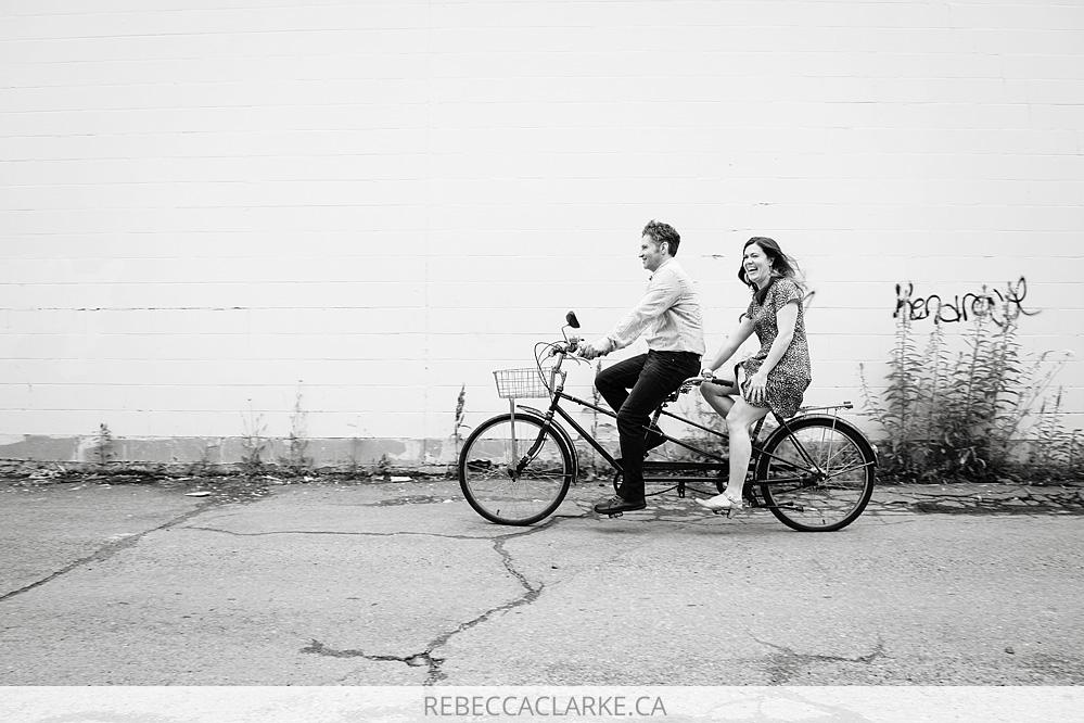 Andrea and Robert tandem bike