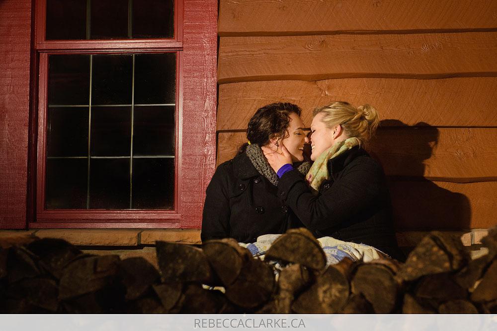 Same sex engagement session