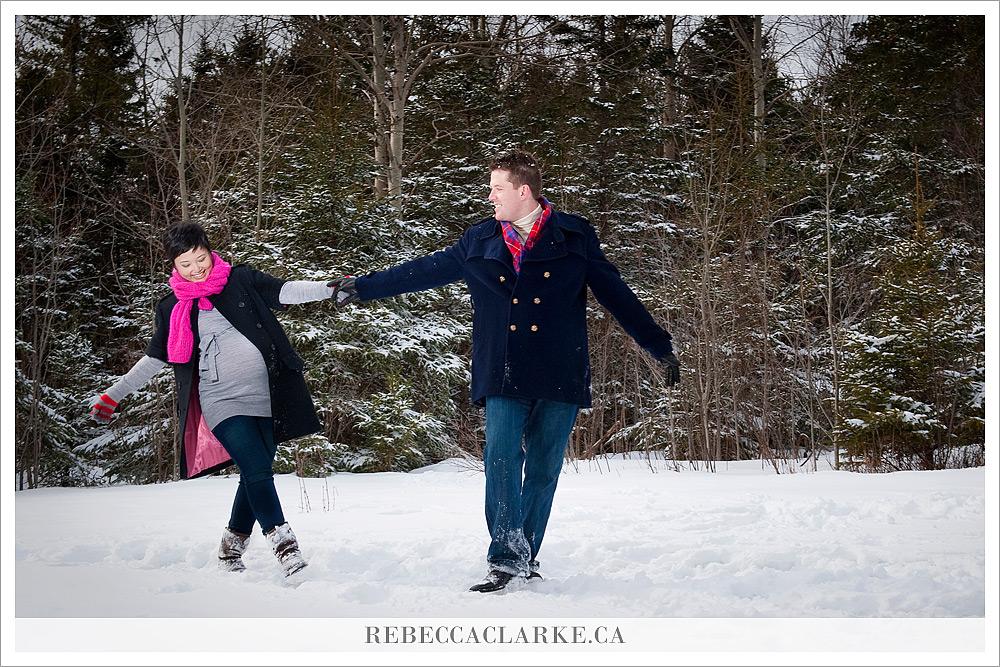 Veronica & Nigel walking
