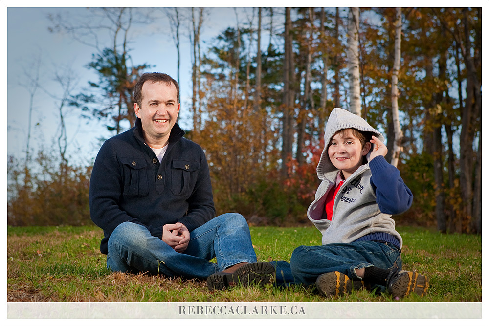 Father and son, Family session