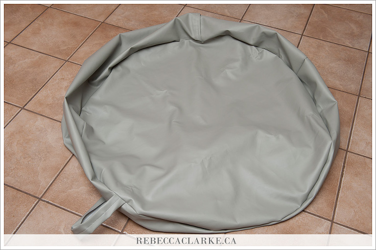 DIY Newborn Baby Bean Bag Poser