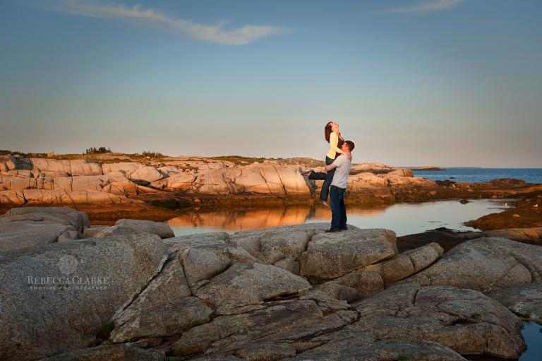 Peggy's Cove engagement session photography